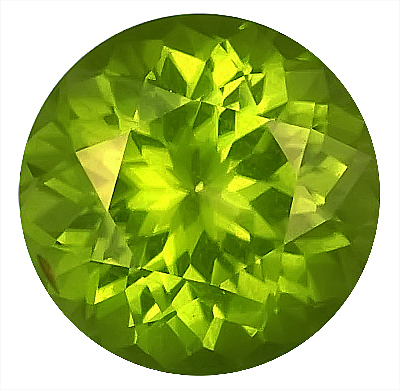 Magnificent Loose Burmese Genuine Peridot Gem, Round Cut, 12.6 x 12.5 mm, 8.02 carats