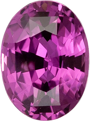 Magnificent Magenta Purple Sapphire Gemstone with Great Cut, from Ceylon, Oval Cut, 1.56 carats