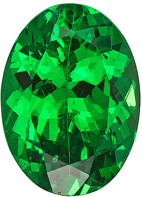 Magnificent Rich Green Tsavorite from Tanzania for SALE! Oval cut, 1.17 carats