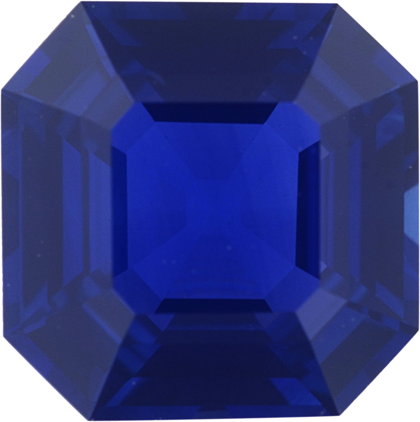 Magnificent Sapphire Loose Gem in Modified Square Cut,  Violet Blue, 6.77 x 6.75  mm, 1.55 Carats