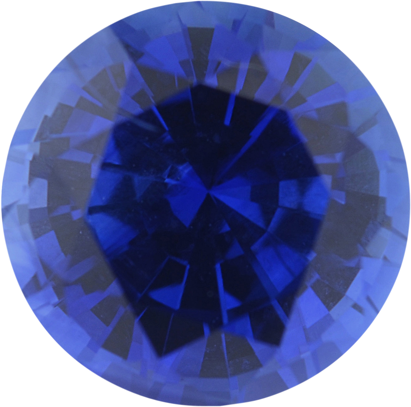 Magnificent Sapphire Loose Gem in Round Cut, Medium Violet Blue, 6.96 mm, 1.69 Carats