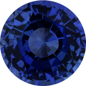 Magnificent Sapphire Loose Gem in Round Cut, Vibrant Blue Violet, 5.2 mm, 0.68 Carats