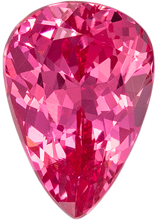 Peachy Pink Mahenge Material Spinel Gemstone inPear Cut, 7.6 x 5.2 mm, 1.03 carats