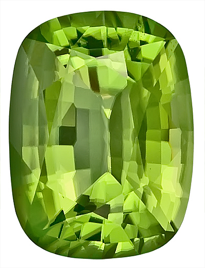 Majestic Burmese Natural Peridot Gemstone, Antique Cushion Cut, 14.8 x 11.3 mm, 9.05 carats - SOLD
