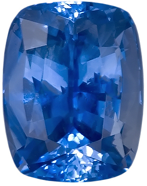 Majestic Medium Fine Blue Sapphire Natural Gemstone, Sri Lanka, Antique Cushion Cut, 3.53 carats
