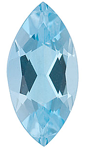 Marquise Cut Genuine Aquamarine in Grade AA
