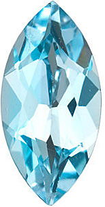 Marquise Cut Genuine Sky Blue Topaz in Grade AAA