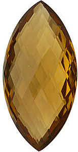 Marquise Shape Double Sided Checkerboard Honey Quartz Genuine Quality Loose Faceted Gem Grade AA, 28.00 x 14.00 mm in Size