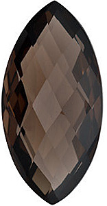Marquise Shape Double Sided Checkerboard Smokey Quartz Genuine Quality Loose Faceted Gem Grade AAA, 20.00 x 10.00 mm in Size
