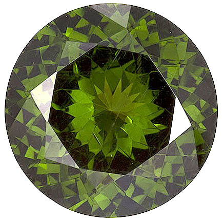 Marvelous Unheated Green Zircon Gemstone - Excellent Clarity in Nice 10.00mm Cut & Life, Round Cut, 3.88 carats