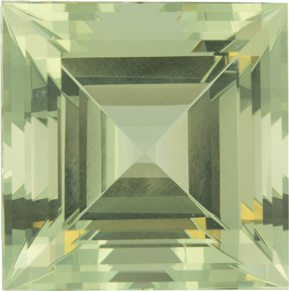 Massive Yellowish Green Beryl Gemstone in Square Cut, German Cut in 25.0 mm, 69.63 carats