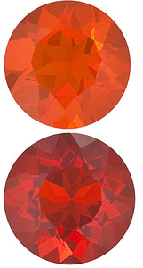 MEXICAN FIRE OPAL Round Cut - Calibrated