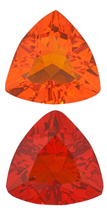 MEXICAN FIRE OPAL Trillion Cut - Calibrated