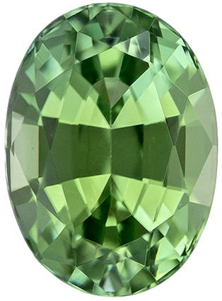 Mint Green Tourmaline Calibrated Gem in Oval Cut in 8.1 x 5.9 mm 1.63 carats