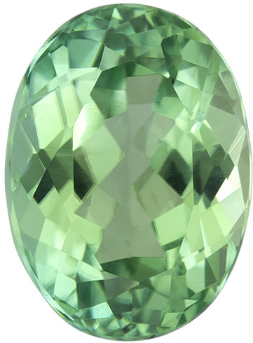 Mint Green Tourmaline Loose Gem in Oval Cut, Open Mint Green, 9.1 x 6.7 mm, 2.17 carats