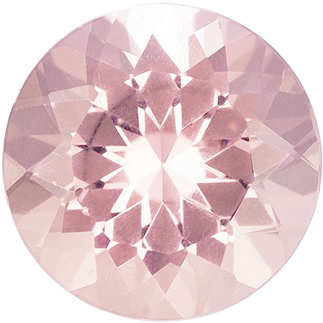 Morganite Gems Round Cut in Grade AAA