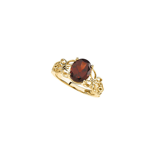 Great Deal in Mozambique Garnet Butterfly Design Ring