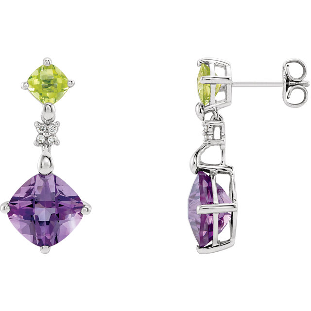 Easy Gift in Multi-Gemstone & Diamond Earrings