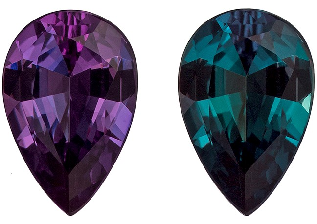 Must See Alexandrite Pear Shaped Gemstone with GIA Cert, 0.6 carats, 7.2 x 4.76 x 2.68 mm - Low Price