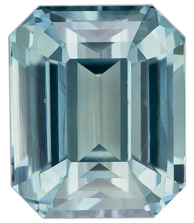 Must See Blue Green Sapphire Emerald Shaped Gem, No Heat with GIA Cert, 2.02 carats, 7.1 x 5.88 x 4.56 mm - Low Price