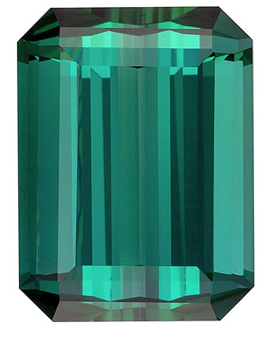 Must See Blue Green Tourmaline Gemstone, 3.74 carats, Emerald Shape, 10.3 x 7.7 mm, Low Price