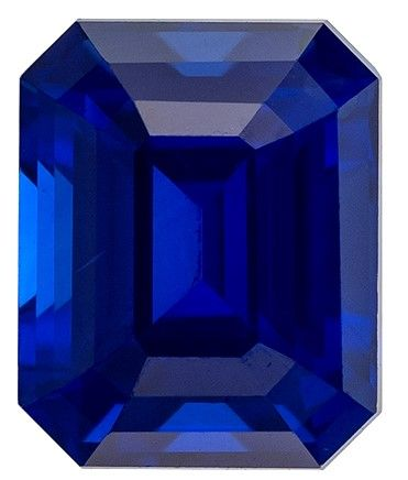 Must See Blue Sapphire Emerald Shaped Gemstone, 1.06 carats, 5.8 x 4.7mm - Truly Stunning