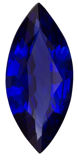 Must See Blue Sapphire Gemstone, 1.08 carats, Marquise Shape, 10.5 x 4.8 mm, Impressive Gem