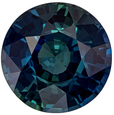 Must See Gemstone  Blue Green Sapphire Round  GIA Certed Cut, 1.73 carats, 7.07 mm