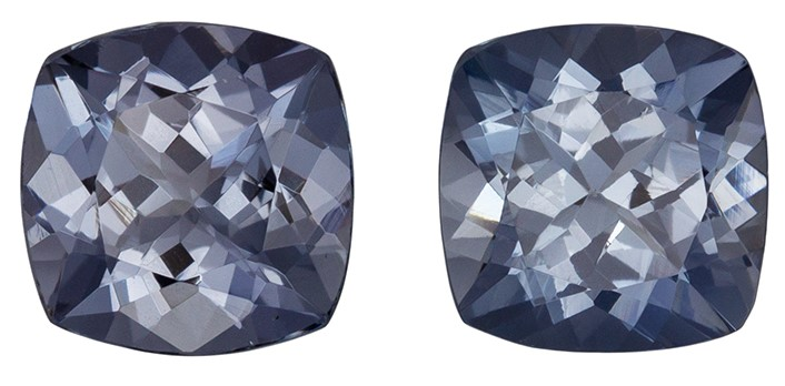 Must See  Gray Spinel Gemstone, 2.28 carats, Cushion Shape, 6 mm, Amazing Gemstone - Low Price