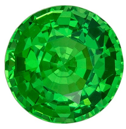 Must See  Green Tsavorite Gemstone, 1.49 carats, Round Shape, 6.6 mm, A Natural Wonder