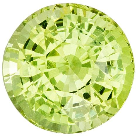 Must See Neony Chrysoberyl Gemstone, 2.45 carats, Round Shape, 7.6 mm, A Beauty of A Gem