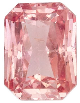 Must See No Heat Padparadscha Sapphire Gemstone with GIA Certificate, 0.77 carats, Radiant Shape, 5.67 x 4.22 x 3.04 mm, Rare Gem - Low Price!