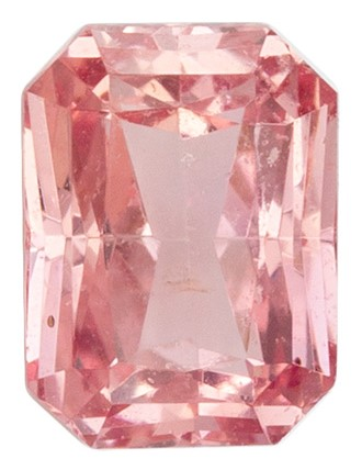 Real Padparadscha Sapphire Gemstone, Radiant Cut, 0.77 carats, 5.67 x 4.22 x 3.04 mm , GIA Certified - A Great Buy
