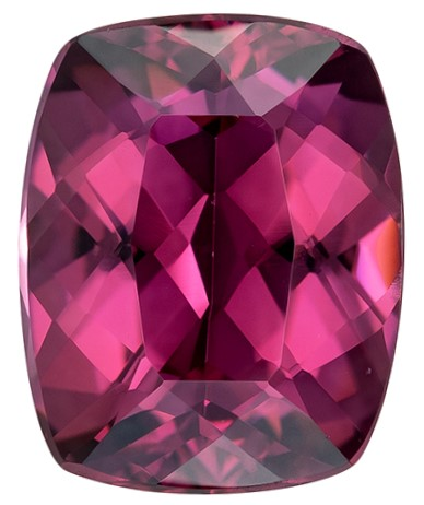 Must See Rhodolite Garnet Cushion Shaped Gemstone, 2.33 carats, 8.6 x 6.8mm - Super Great Buy