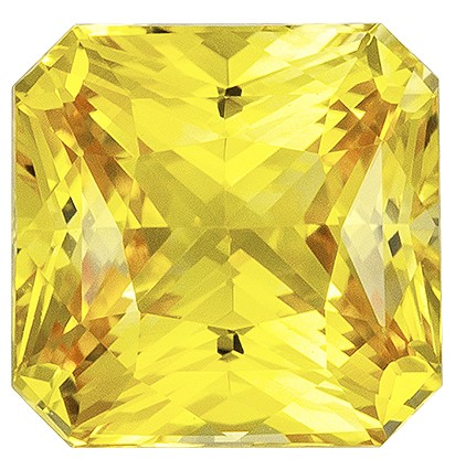 Must See  Yellow Sapphire Gemstone, 1.81 carats, Radiant Shape, 6.6 x 6.5 mm, A Natural Wonder