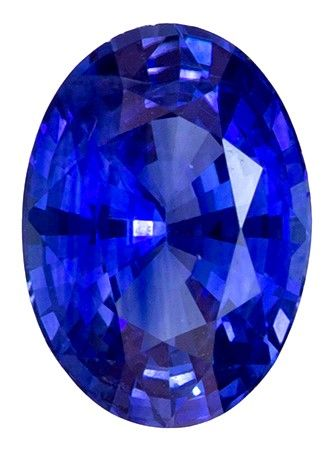 Must See0.85 carats Sapphire Genuine Gemstone in Oval Cut, Rich Blue, 6.9 x 5 mm