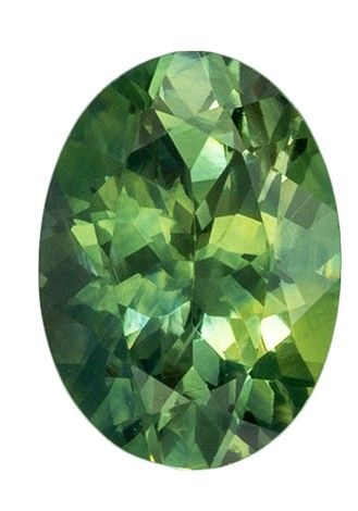 Must See1.04 carats Sapphire Loose Gemstone in Oval Cut, Rich Minty Green, 7 x 5.1 mm