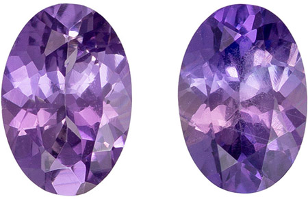 Must See1.11 carats Sapphire Genuine Gemstone in Oval Cut, Medium Purple, 6 x 4 mm