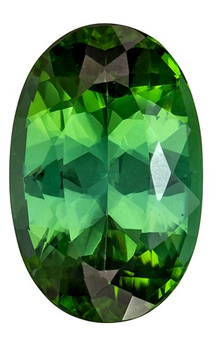 Must See12.3 x 8.6 mm Tourmaline Genuine Gemstone in Oval Cut, Rich Green, 4.37 carats