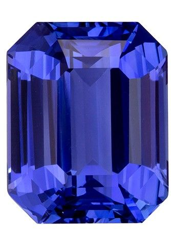 Must See5.05 carats Sapphire Loose Genuine Gemstone in Emerald Cut, Rich Blue, 10.1 x 8.1 mm