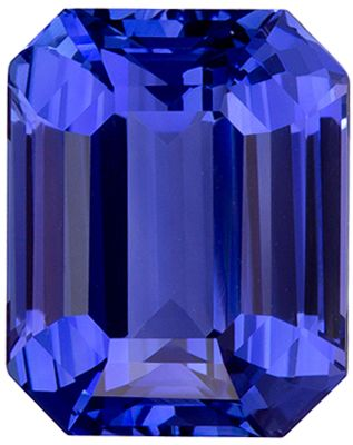 Must See 5.05 carats Sapphire Loose Genuine Gemstone in Emerald Cut, Rich Blue, 10.1 x 8.1 mm