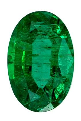 Must See5.1 x 3.4 mm Emerald Loose Genuine Gemstone in Oval Cut, Rich Green, 0.33 carats