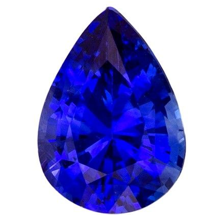 Must See5.8 x 4.1 mm Sapphire Loose Gemstone in Pear Cut, Medium Blue, 0.49 carats