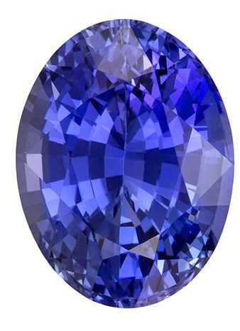 Must See9 x 6.8 mm Sapphire Loose Genuine Gemstone in Oval Cut, Vivid Blue, 2.35 carats