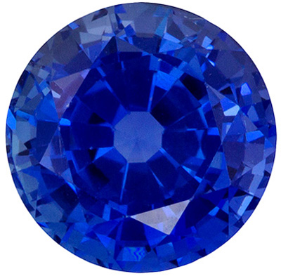 Must SeeGRS Certified 6.8 mm Sapphire Loose Genuine Gemstone in Round Cut, Vivid Blue, 1.71 carats