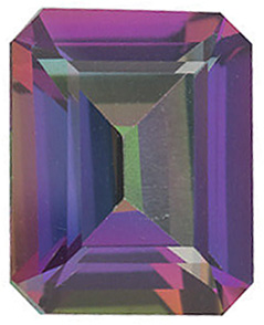 Mystic Green Topaz Emerald Cut in Grade AAA