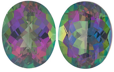 MYSTIC GREEN TOPAZ Oval Cut Gems  - Calibrated