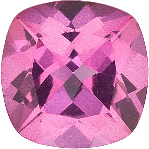 Mystic Pink Topaz Antique Square Cut in Grade AAA
