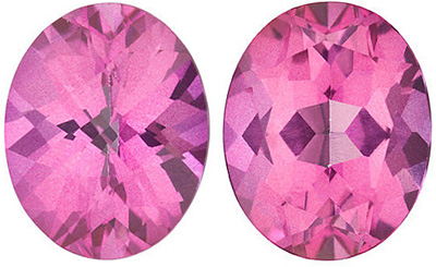 MYSTIC PINK TOPAZ Oval Cut Gems  - Calibrated