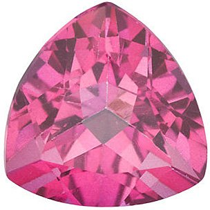 Mystic Pink Topaz Trillion Cut in Grade AAA